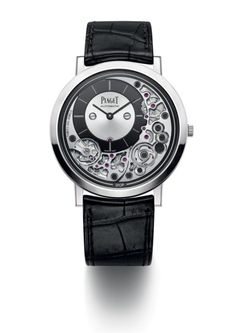The ultra-thin Piaget Altiplano Ultimate Automatic (shown in 18K white gold) 41 mm timepiece is now the current record holder for the world's thinnest automatic watch coming in at only 4.3 mm thick. For the full story, visit us at WatchTime.com. #piaget #piagetaltiplano #SIHH2018 #watchtime