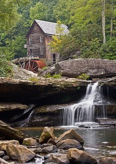 Grist Mill in West Virginia. The joke is, this must be THE most photographed and painted place on the planet. It is beautiful, though.