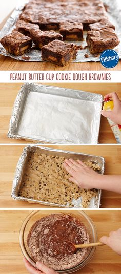 This says it all: Peanut Butter Cup Cookie Dough Brownies! Friends and family will go crazy about these sweet treats. Make two batches to serve a large crowd. Dessert will never be the same!