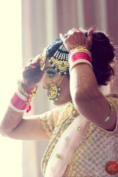 Breezy punjabi wedding with a pastel pink bride Indian Wedding Jewelry, Big Fat Indian Wedding, Indian Bridal Wear, Indian Wedding Outfits, Indian Outfits, Indian Weddings, Indian Dresses, Bridal Jewelry, Real Weddings