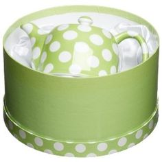 polka dot tea pot...thinking about a board just for polka dots!!! oh how I love them!!! TeaPots n Treasures   www.teapots4u.com