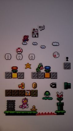 IMAGINARY WARDROBE: Hama Bead Mario Wall