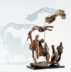 Nativity Scene sculpture... Driftwood Art by driftwoodartwork