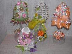Ball Ornaments, Christmas Ornaments, Styrofoam Ball, Easter Projects, Faberge Eggs, Egg Art, Easter Eggs, Glass Vase, Centerpieces
