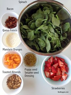 Yum! Strawberry spinach salad with bacon | #BabyCenterBlog Strawberry Spinach, Strawberry Summer, Bacon Recipes, Bacon Food, Healthy Fruits, Healthy Snacks, Healthy Recipes, Cooking Recipes, Drink Recipes