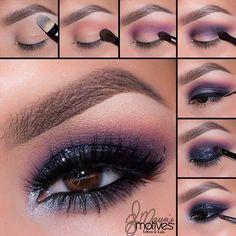 Grey & Purple Smokey Eye Tutorial