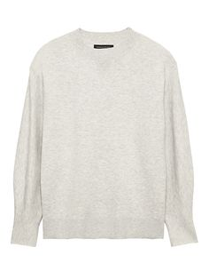 02817e68dc5 Banana Republic Womens Cocoon-Sleeve Sweater Heather Light Gray Pants For  Women