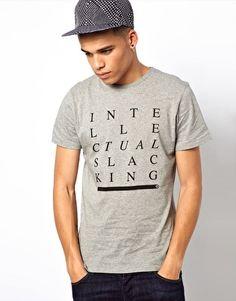 WESC T-Shirt Exclusive To Asos Intellectual Slacking