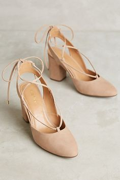 Klub Nico Ruby Lace-Up Heels #anthropologie
