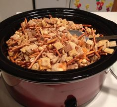 Learn how to Make Homemade Chex Mix in the Crockpot