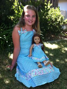 Look-a-like matching dress for girl and doll, $45.