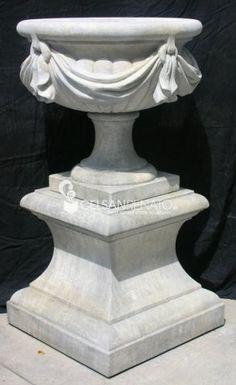 Morfeo's stone #vase. Garden Ornaments, Garlands, Urn, Pedestal, Fountain, Planter Pots, Vase, Sculpture, Statue