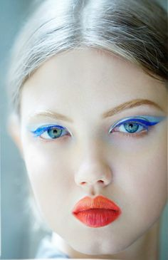 The makeup at Dior A/W 2012 Couture
