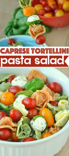 Just when you thought pasta salad couldn't get any better! This caprese tortellini pasta salad is sure to win hearts and tastebuds at your next party or BBQ