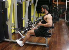 Remada Unilateral na Polia. Grupos musculares: Costas, Antebraço, Bíceps…