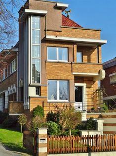 Art Deco house in the town of Ronse, Province of Oost-Vlaanderen, Belgium