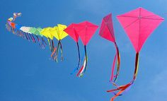 Kites were invented in China about 3,000 years ago.