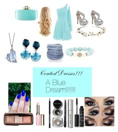 """""""Blue Prom dress!!!!!!!"""" by daisydaisy123 ❤ liked on Polyvore featuring Cult Gaia, Oscar de la Renta, Sif Jakobs Jewellery, Devoted, Hourglass Cosmetics, Clarins, Lord & Berry, Bobbi Brown Cosmetics and NARS Cosmetics"""