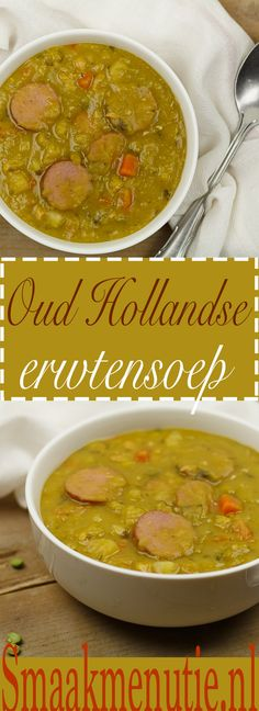 Erwtensoep #soep Dutch Recipes, Soup Recipes, Cooking Recipes, Good Food, Yummy Food, Most Delicious Recipe, Winter Food, Slow Cooker, Allrecipes