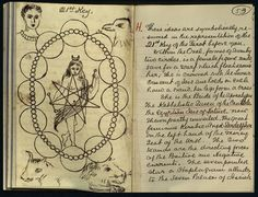 piratedistributing: Sample of W.B. Yeats' original ritual notebooks for the Hermetic Order of the Golden Dawn.