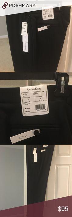 MENS Calvin Klein dress pants 👖 Men's Calvin Klein suit separates black pants. BRAND NEW !!! Slim fit size 36x34! Calvin Klein Pants Dress