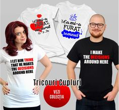 Banner tricouri indragostiti Feminism, Let It Be, Mens Tops, How To Make, T Shirt, Fashion, Supreme T Shirt, Moda, Tee