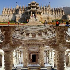 Dilwara Jain Temples :-  Known for their architectural splendour and exquisite stone carvings, the Dilwara temples in Rajasthan are dedicated to Jain Tirthankars. Located about 2.5 km from Mount Abu.