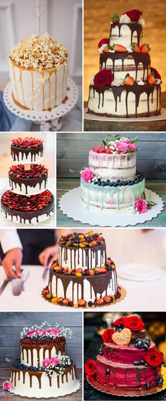 Drip-Cake für die Hochzeit