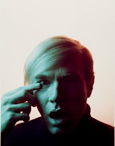Andy Warhol photographed by Philippe Halsman, 1968.