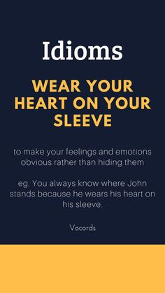to make your feelings and emotions obvious rather than hiding them. Daily English Vocabulary, Learn English Grammar, English Writing Skills, English Vocabulary Words, English Language Learning, English Phrases, Learn English Words, English Lessons, French Lessons