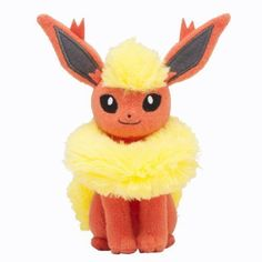 Pokemon-Center-Original-Sits-down-Pause-Flareon-Plush-Doll-FreeShipping