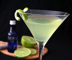 Cardamon makes everything better, including this lime-cardamon martini.