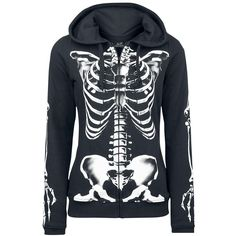 Skeleton Sweatjacket par Full Volume by EMP