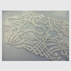 From the sample room. Embroidered wedding gown, inspired by the Great Gatsby. Spring Bride 2015 #fashion #fashioninspiration #fashion #fashioninspiration #weddinginspiration #custom #embroidery #wedding #weddinggown #love #ootn #ootd #vintage #beautiful #gown #chedstudio #thegreatgatsby #1920s #springbride #bridal #bride