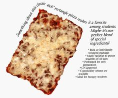 Best cafeteria pizza ever. The square pizza was the best! Copycat Recipes, Pizza Recipes, Cooking Recipes, School Lunch Recipes, School Cafeteria Pizza Recipe, Old School Pizza, Square Pizza, Square School Pizza Recipe, Cafeteria Food