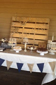 Rustic deer baby shower