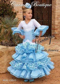 Feria y Fiestas Barriada de los Angeles Alcolea Flamenca Azul