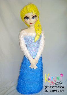 Pinhata da Elsa - Festa Frozen #Elsapinata #pinhatadaelsa