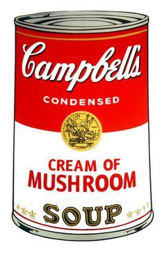 Andy Warhol > Campbell's Soup - Mushroom #popart #andywarhol #artetrama