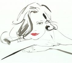 Jacqueline Bissett's beautiful fashion illustrations. Wish you could draw like her? Learn how she creates her illustrations - and get personalised feedback from her - in her online fashion illustration course at Mastered https://www.mastered.com/course-listings/8