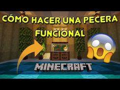 👉 PECERA que FUNCIONA en MINECRAFT 🐠 / Cómo HACER y DECORARLA 1.14 / 1.1... Diy Minecraft, Minecraft Stuff, It Works, How To Make, Decorations