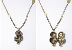 Urban Outfitters Owl Locket Pendant