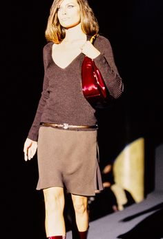 Gucci Fall 1995 Ready-to-Wear Fashion Show - Amber Valletta