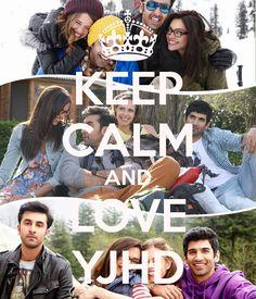 Keep Calm poster of 'Yeh Jawaani Hai Deewani' featuring Deepika, Ranbir, Kalki, and Aditya
