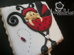 Baby Ladybugs Cookies by Amigalletas on Etsy
