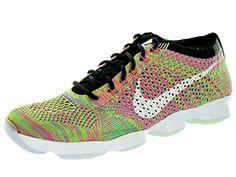 online retailer 2b2a6 2a2e1 Amazon.com   Nike Women s Flyknit Zoom Agility Black White Elctrc Grn Pnk  Pw Training Shoe 9 Women US   Running
