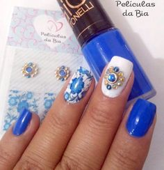Get free high quality hd wallpapers unhas decoradas azuis Fancy Nails, Love Nails, Toe Designs, Nail Jewels, Love To Shop, Mani Pedi, Stiletto Nails, Nail Art, Glitter