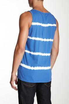 C California Tie Dye Stripe Tank