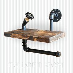 industrial shelf with a paper hanger, fulloft, steampunk