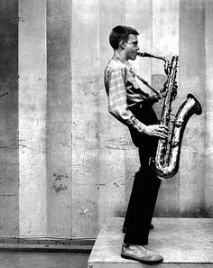 Gerry Mulligan, Los Angeles recording session, 1953 by Bob Willoughby, via Flickr